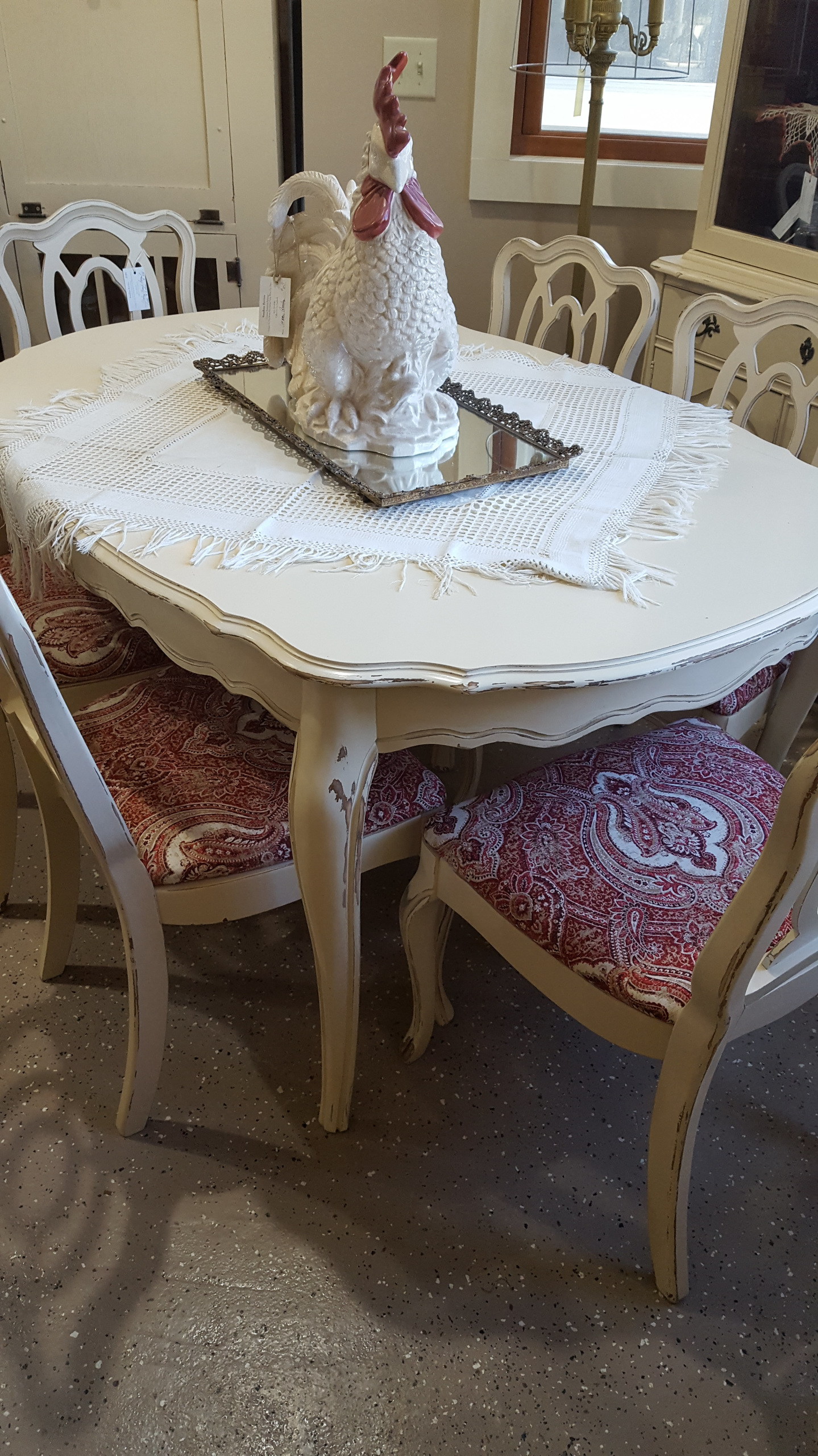French Provincial Table Chairs SOLD